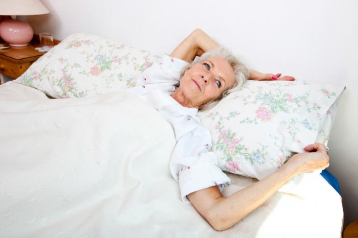 older lady in bed