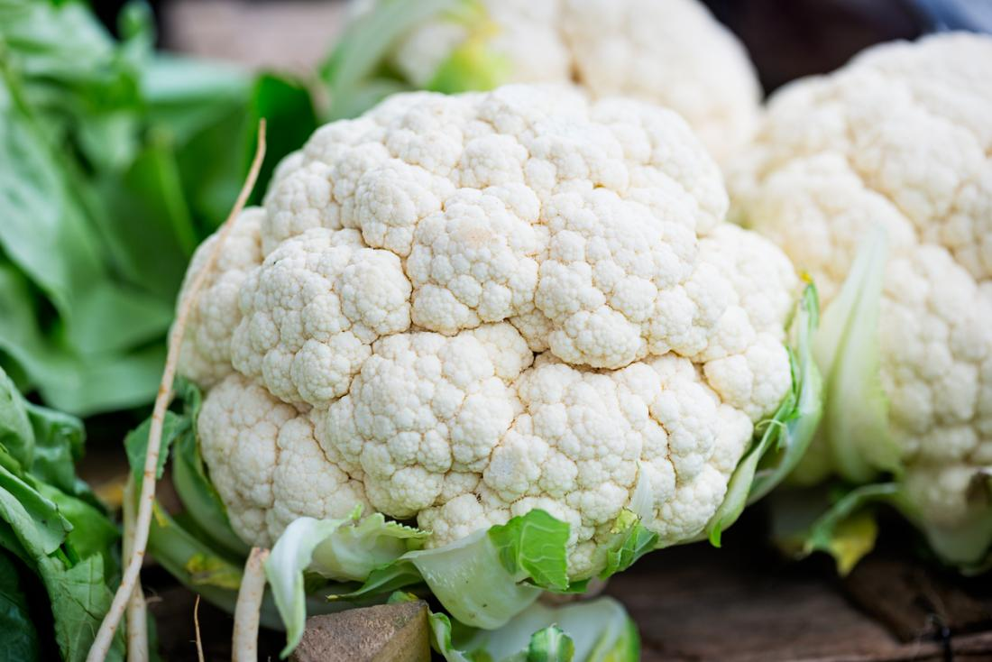 Cauliflower is rich in nutrients and fiber.
