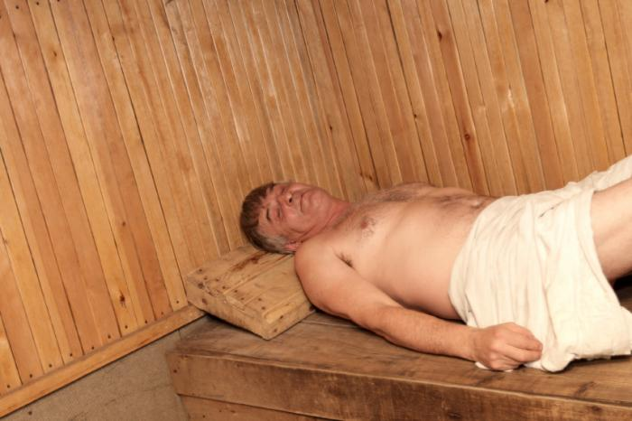 A man using a sauna