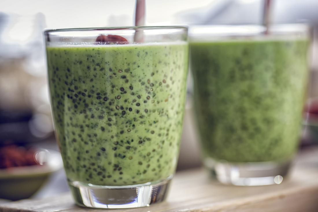 Try a healthy and delicious green chia smoothie.
