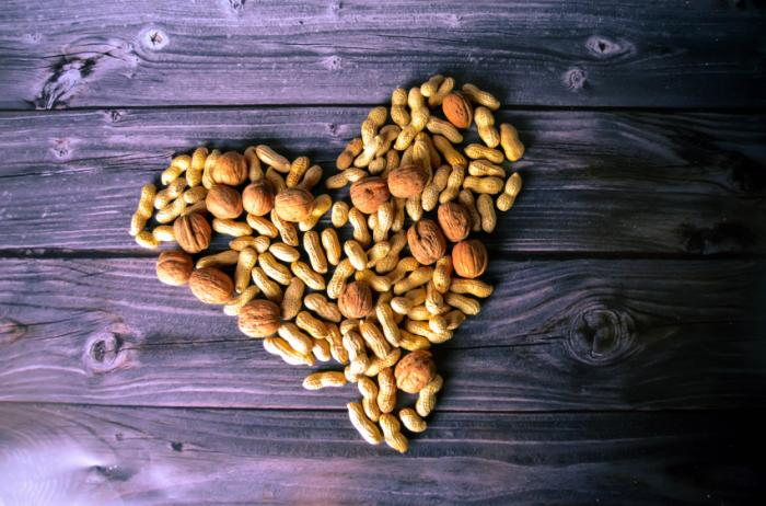 peanuts in the shape of a heart