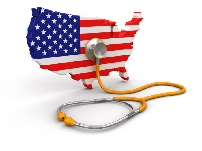USA and stethoscope.