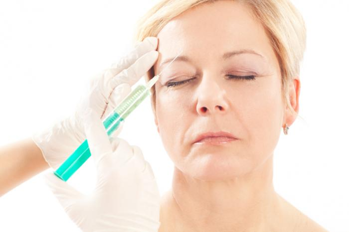 A woman having botox