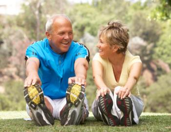 older couple exercising