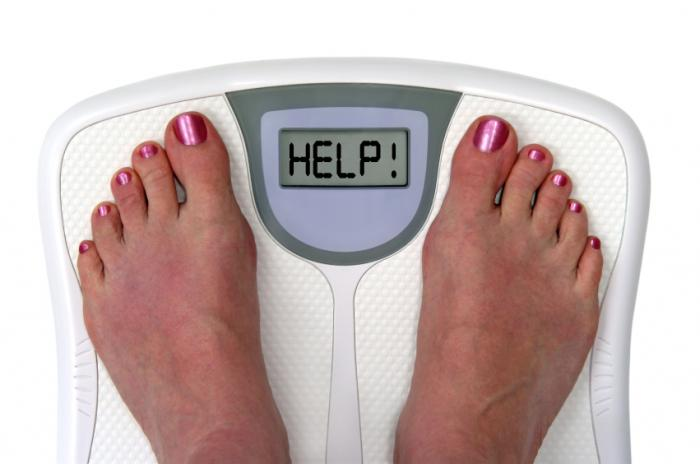 weighing scales and feet