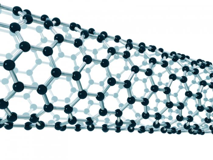 Image of a carbon nanotube.