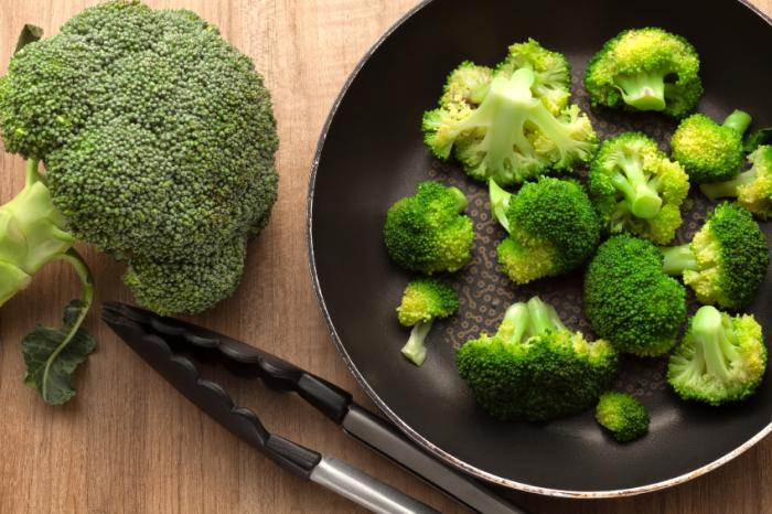broccoli in a pan