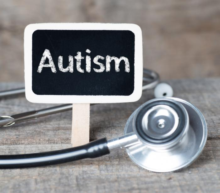 [An autism sign and a stethoscope]