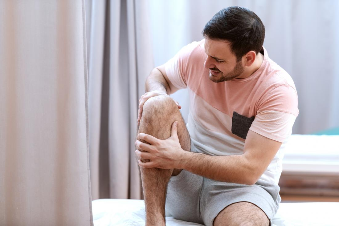 Man with painful knee