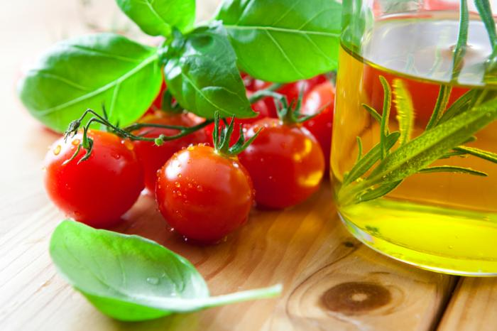 [Tomatoes and olive oil]