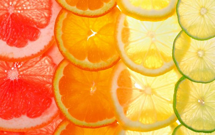 [Slices of citrus fruits]