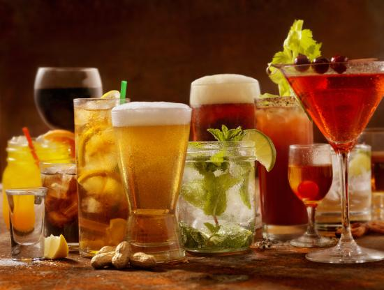 Image of a variety of alcoholic beverages.