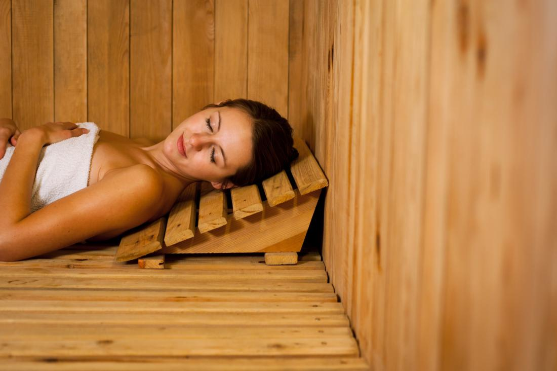 sauna helps relax