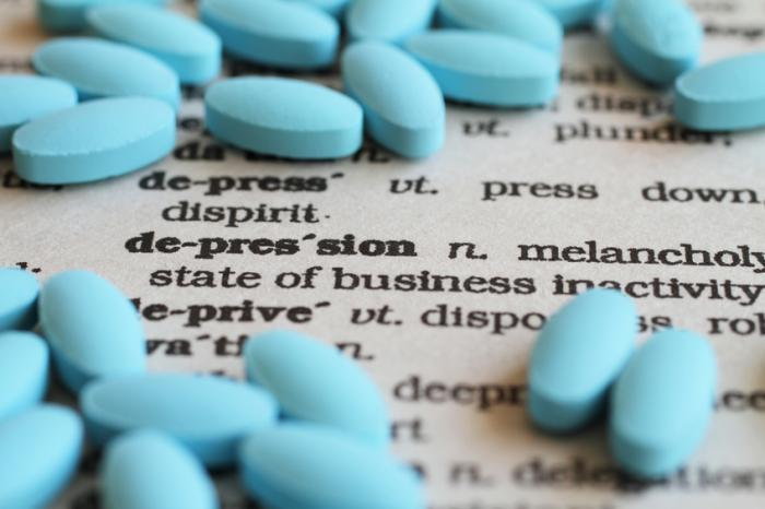 [Antidepressants and a definition of depression]