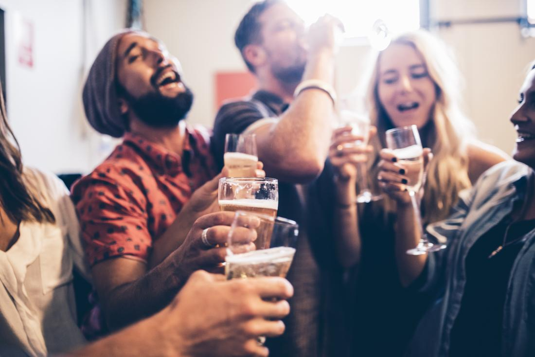 Alcohol can exaggerate the high mood people have with mania