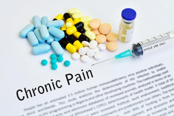 [Chronic pain description and some medications]