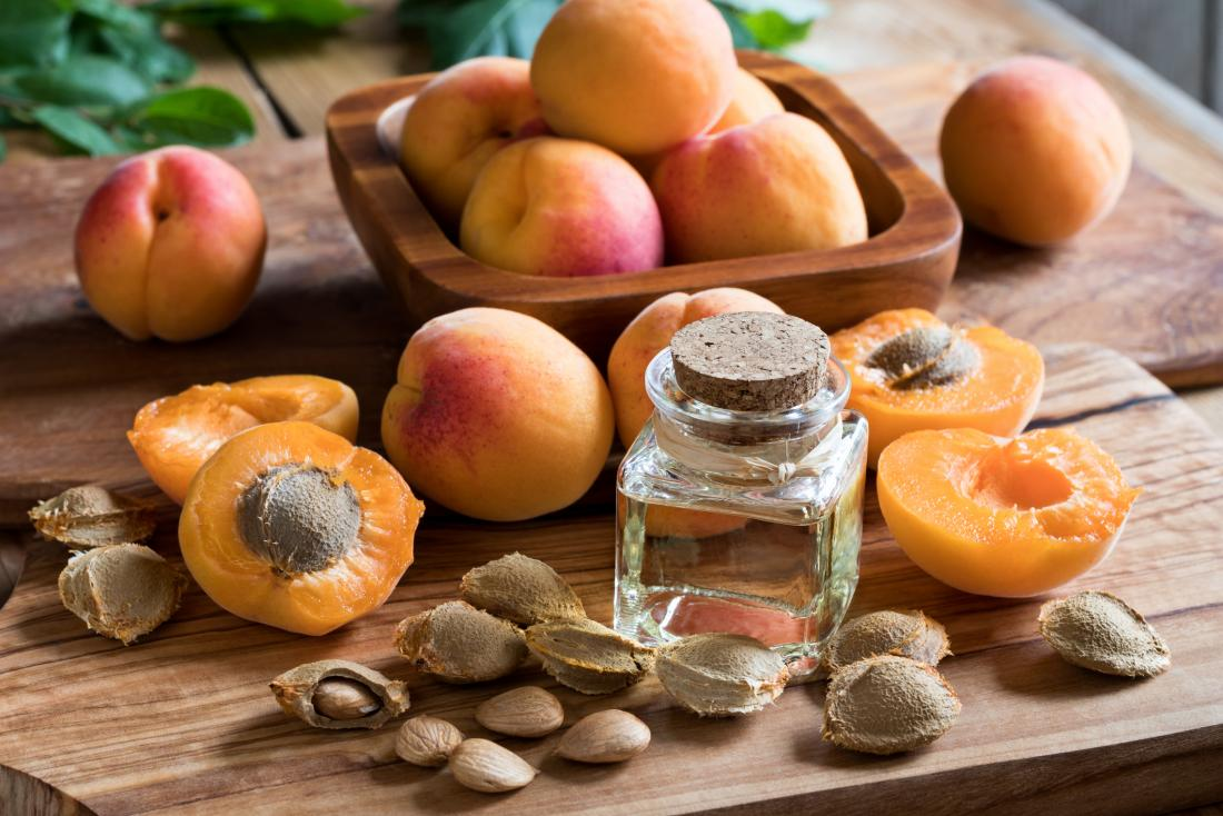 Apricots, kernels, and oil