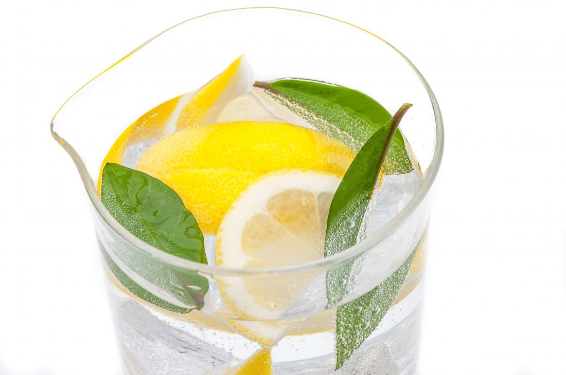 Lemon water instead of fizzy drinks.