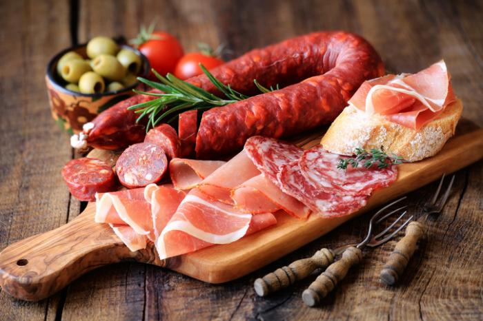 [Delicious cured meats]