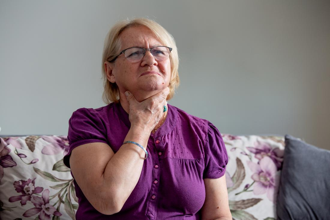 a woman experiencing exacerbation of COPD
