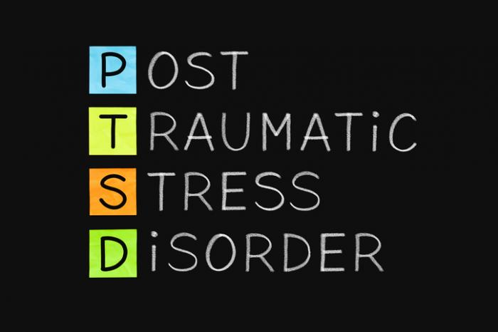 [Letters spelling out PTSD]