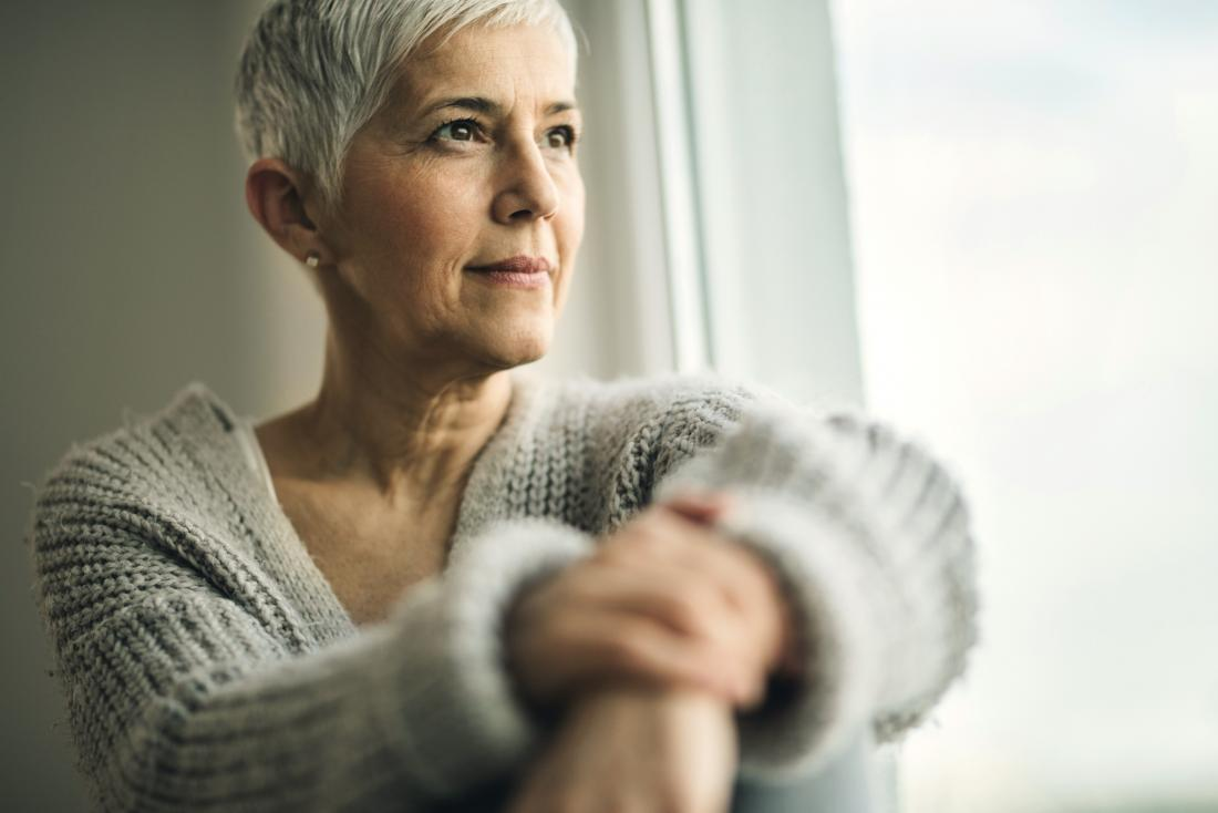 woman thinking about her health