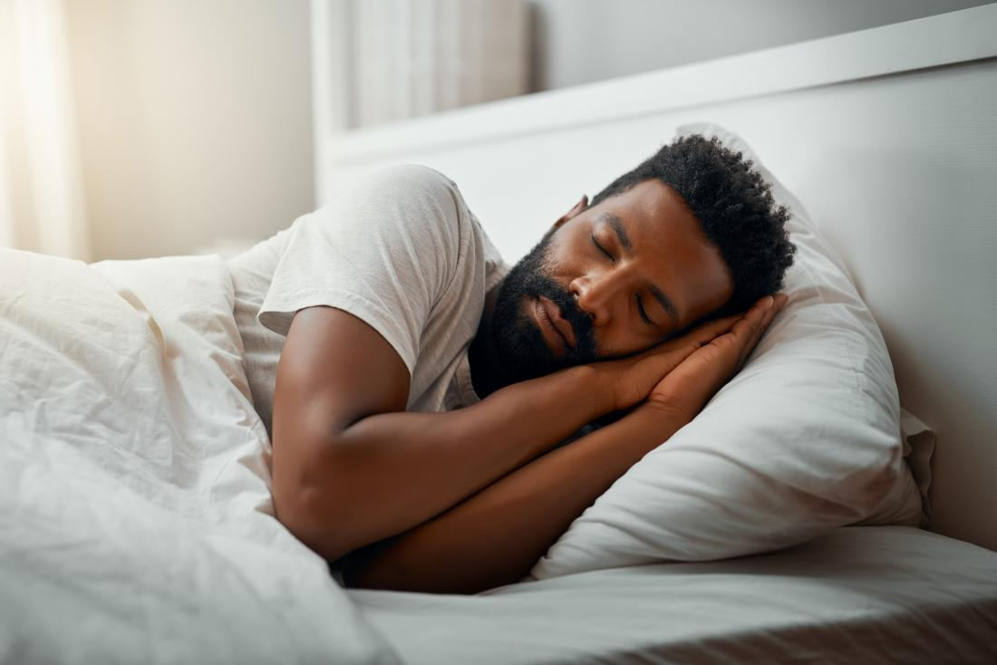 Man getting sleep to manage PsA