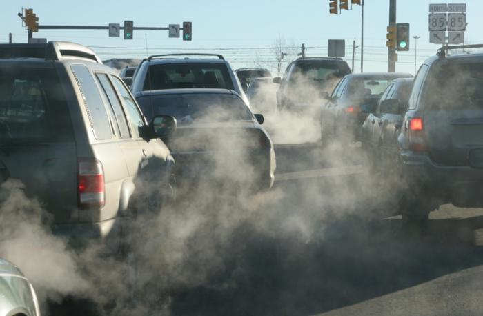 [Air pollution coming from cars]