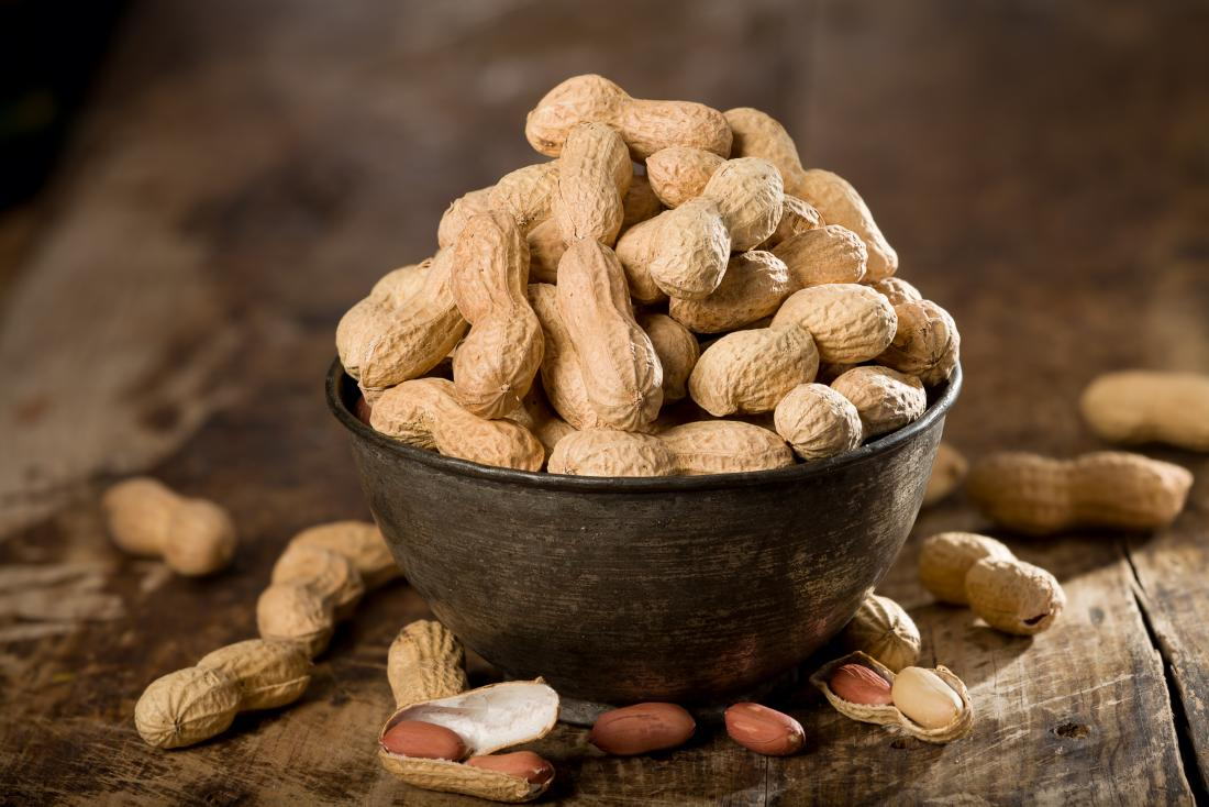 peanuts cooked at home as a snack for diabetes