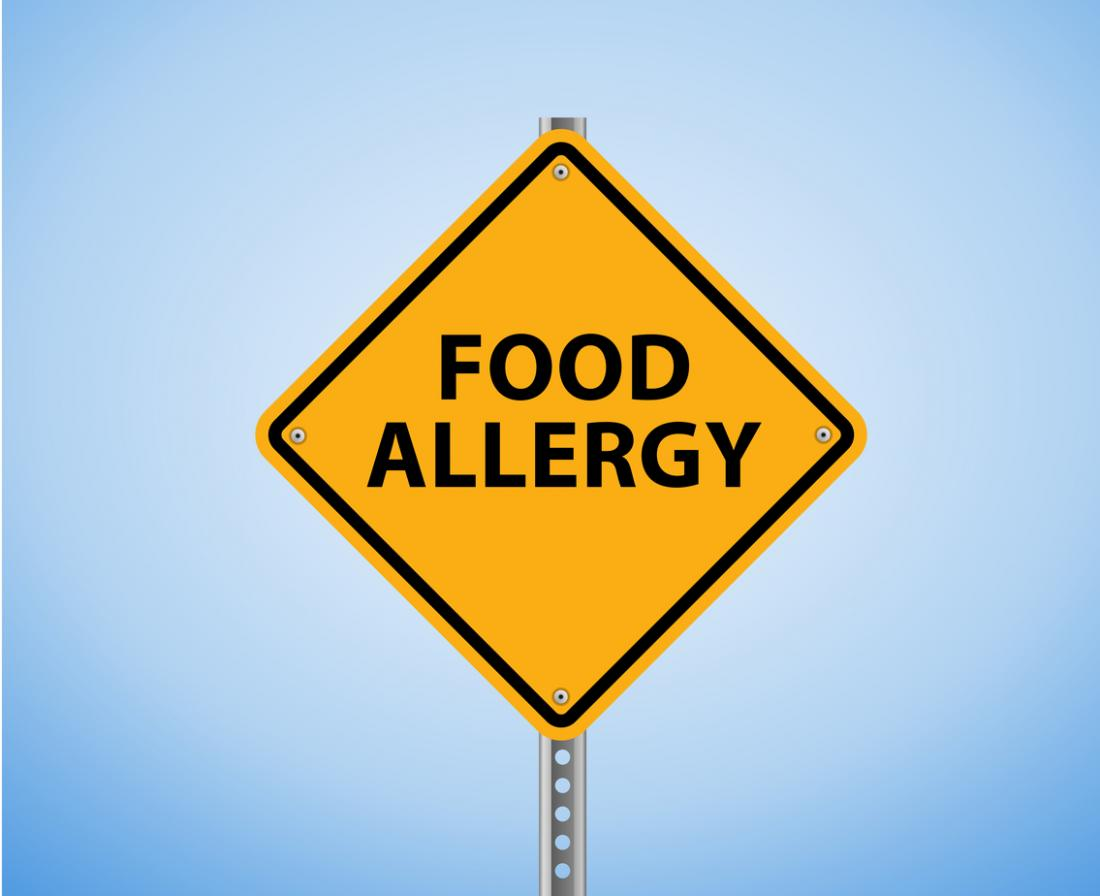 [A food allergy sign]