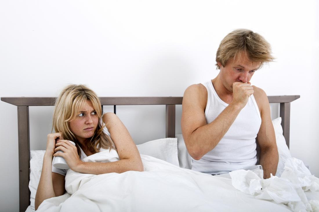 woman is scared of catching her partners illness