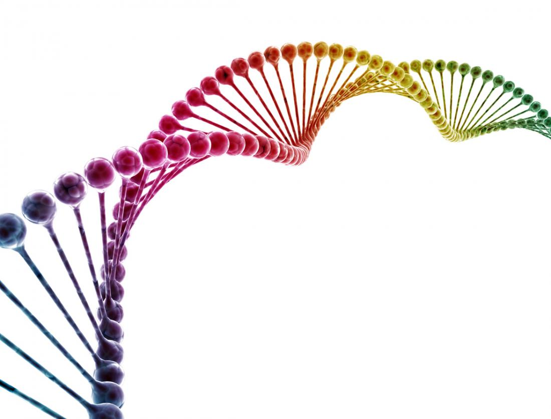 a colorful DNA strand