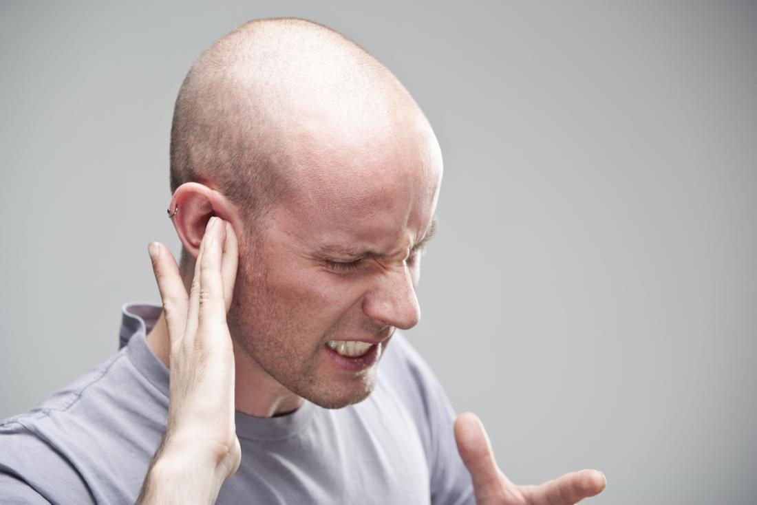 man with an earache
