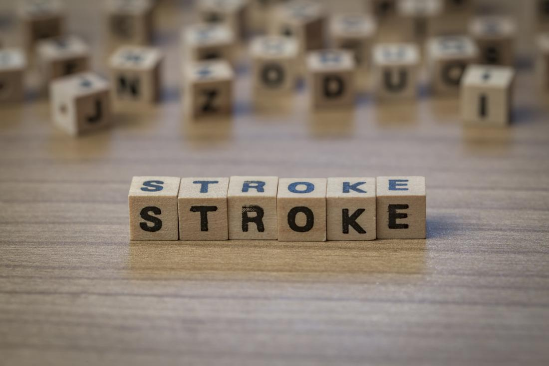 stroke spelled out in blocks