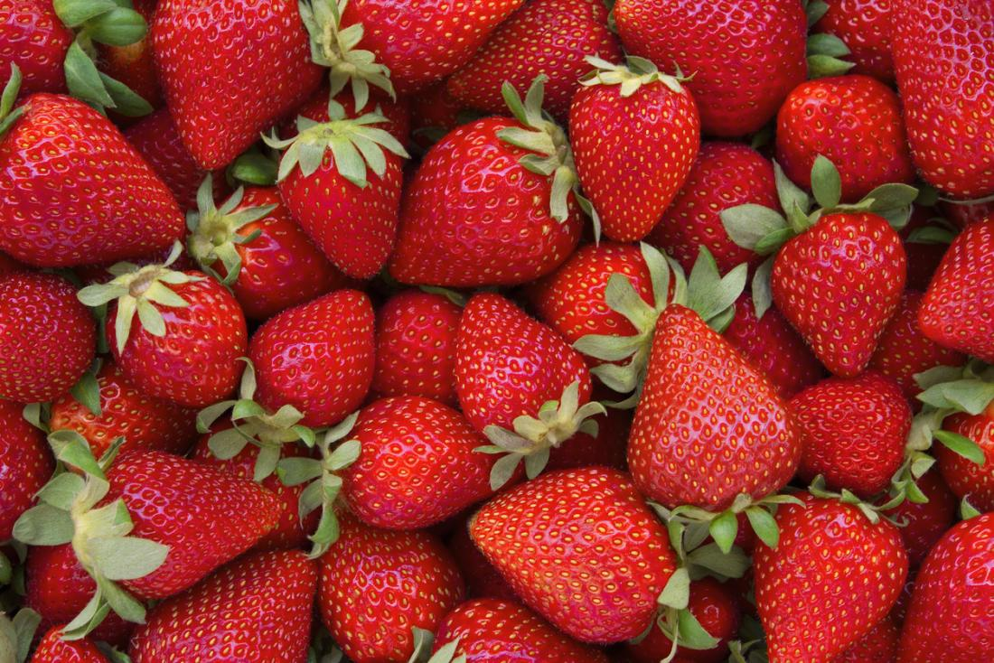 a selection of strawberries