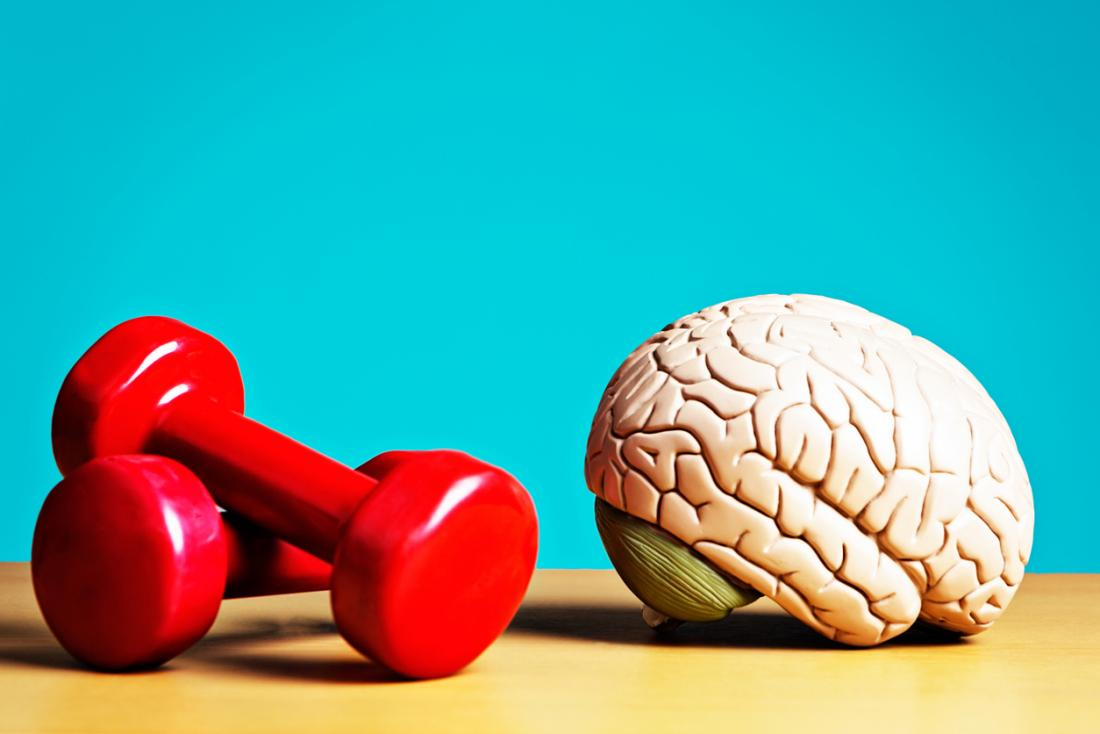 Brain and dumbells