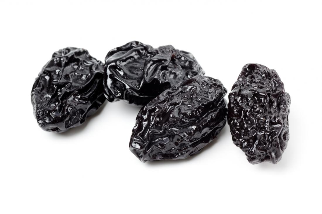 Prunes for constipation.