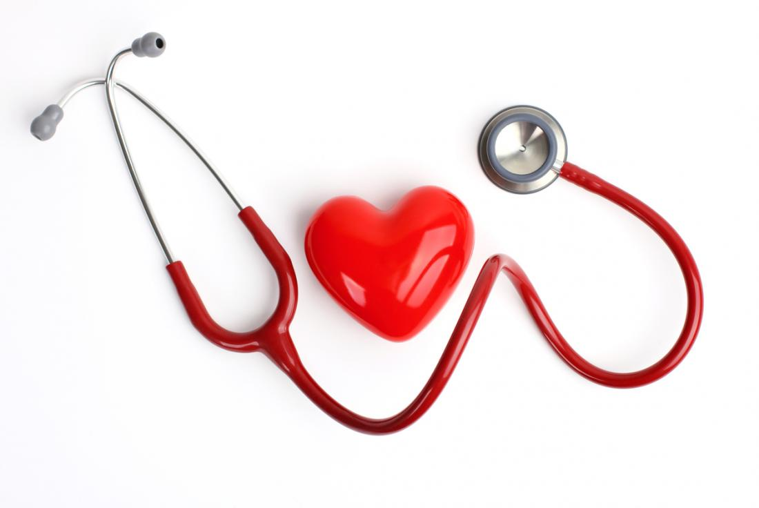 a heart and a stethoscope