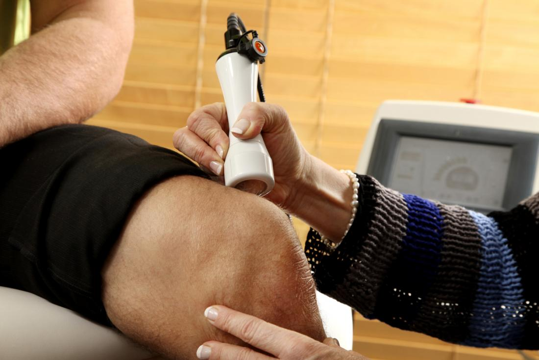 Laser therapy for knee pain.