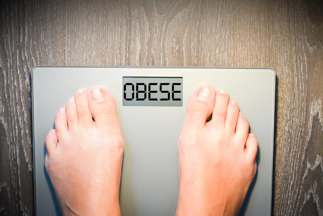 obese written on scales