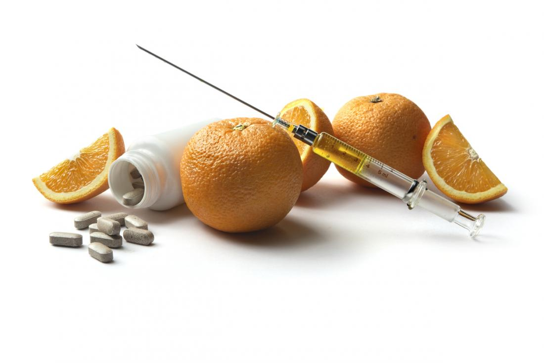 oranges and vitamin c with injection