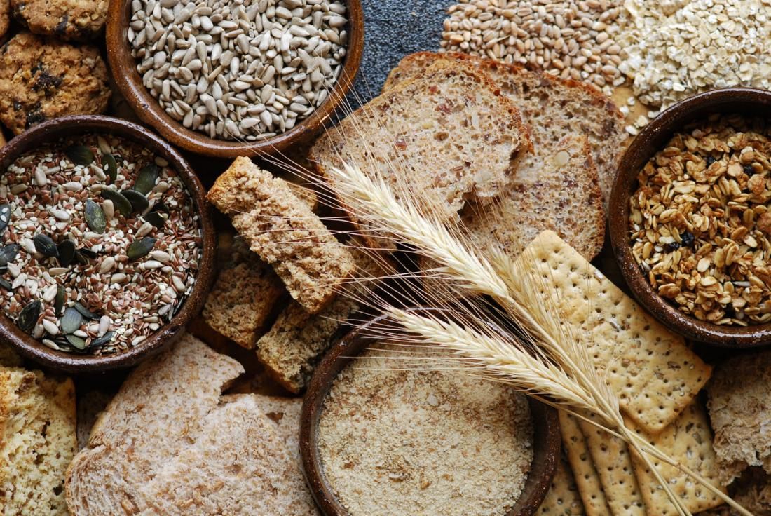 Whole grains and cereals are a good source of fiber.