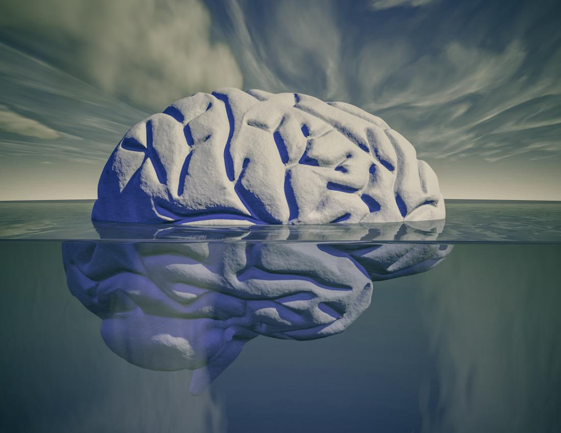 submerged brain art concept