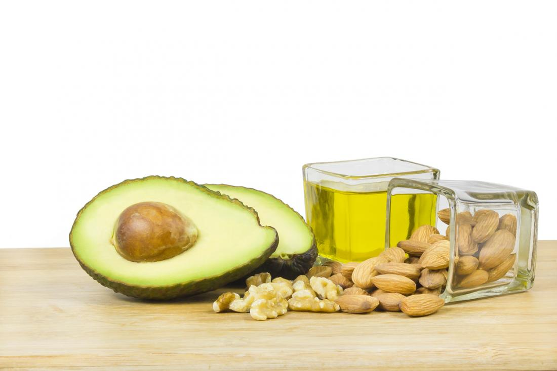 avocados, nuts, and olive oil