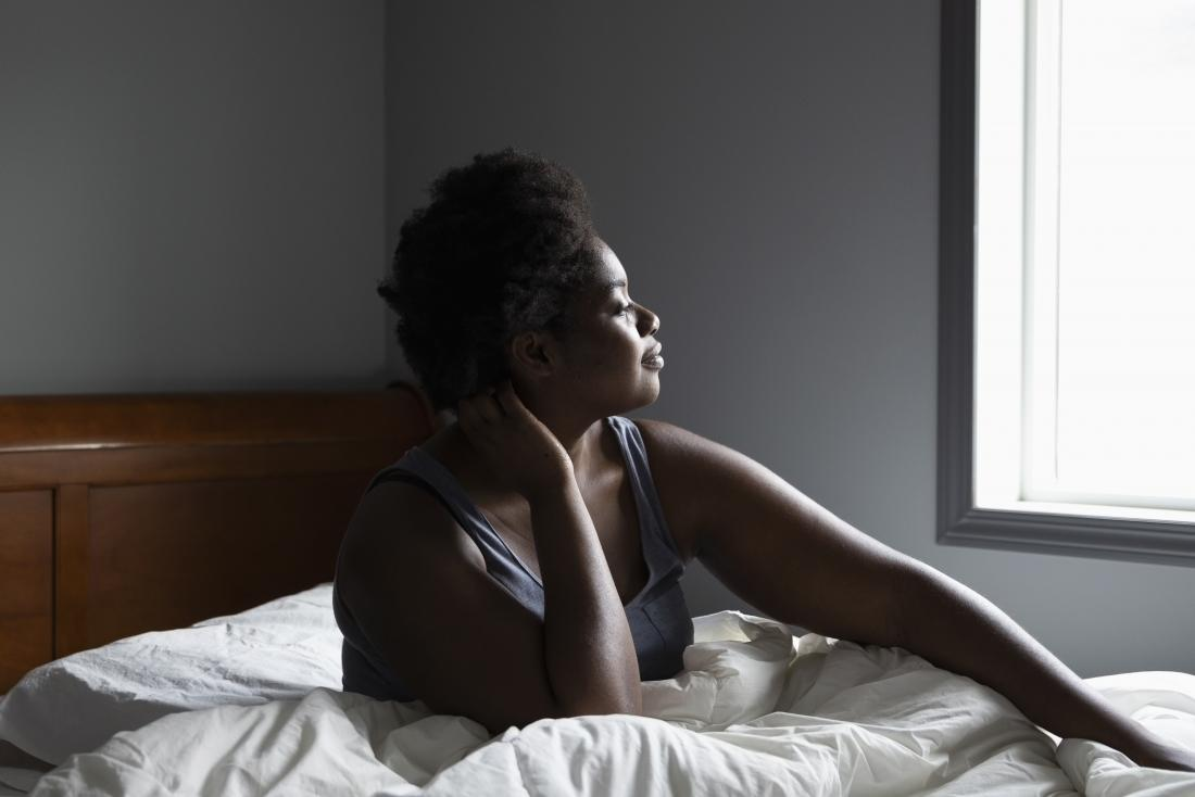 a woman contemplating her myelodysplastic syndrome diagnosis