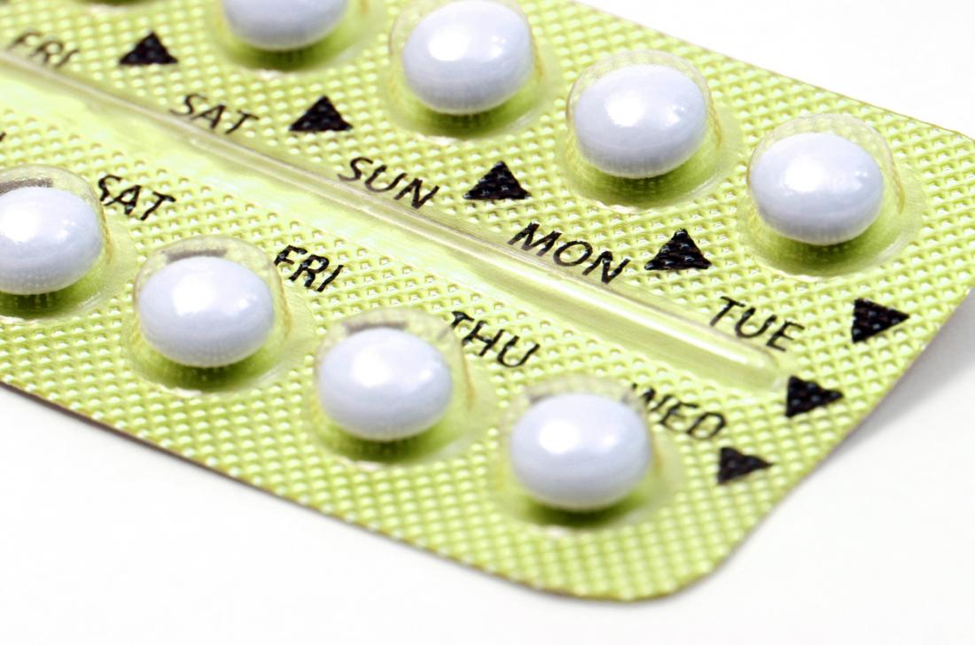 Close up of a pack of birth control pills.