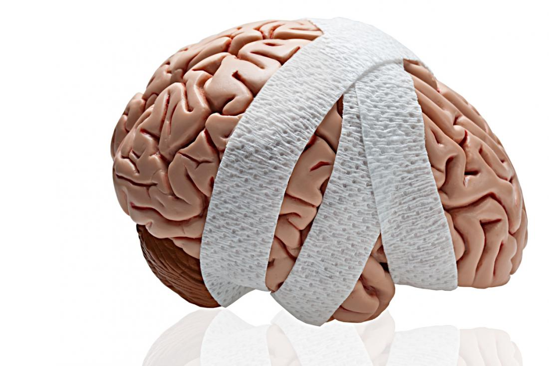 a brain wrapped in a bandage