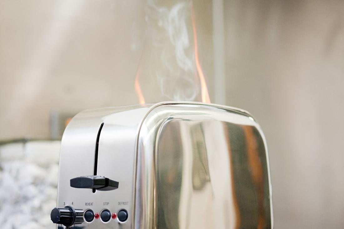 Toaster fire