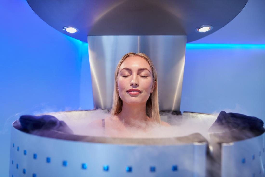 Lady having cryotherapy