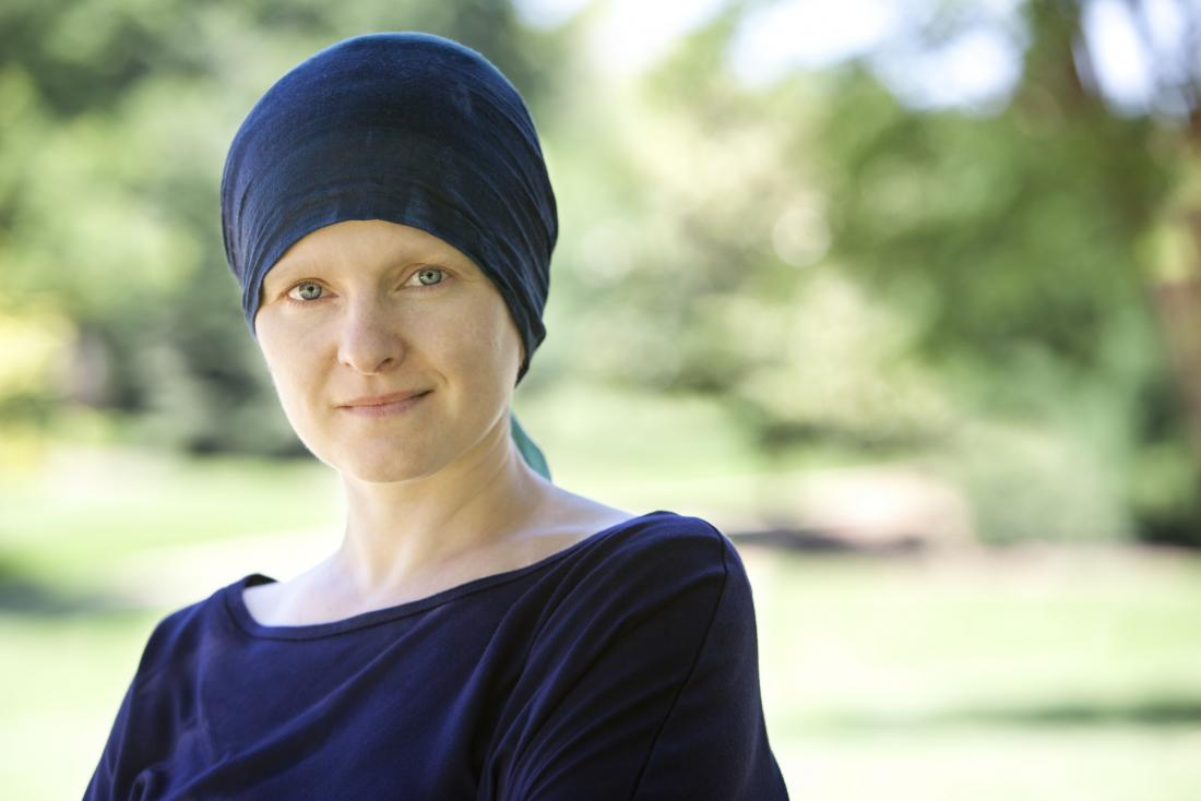 Cancer patient with headband.